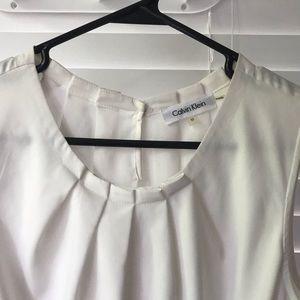 Tops - Calvin Klein white blouse